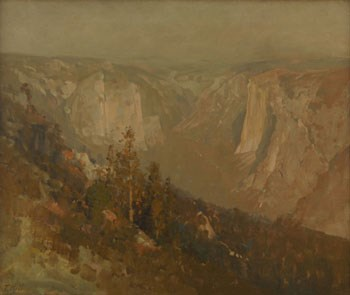 Painting of Yosemite Valley