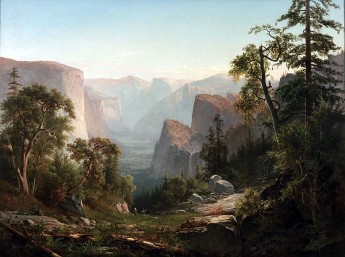 View of the Yosemite Valle 1865 by Thomas Hill