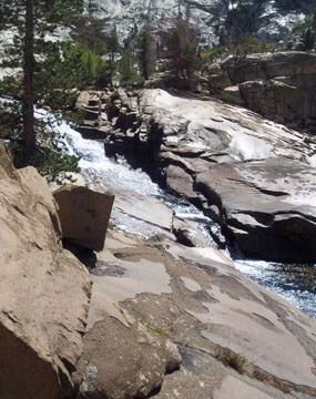 Tuolumne River and glacial polish