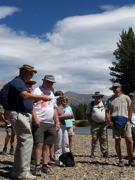 Group of participants during a site visit for the Tuolumne River Plan
