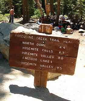 wooden trailhead sign