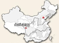 Map of Juizhaigou National Park