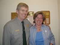 Superintendent Michael Tollefson with Hetch Hetchy Program Manager, Martha Lee.