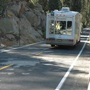 RV driving on Tioga Road