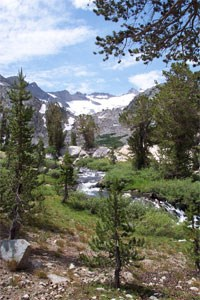 Headwaters of Lyell Fork of the Tuolumne River.