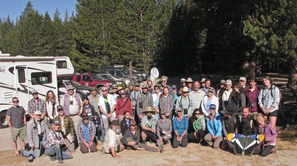 Group photo of people in Tuolumne Meadows