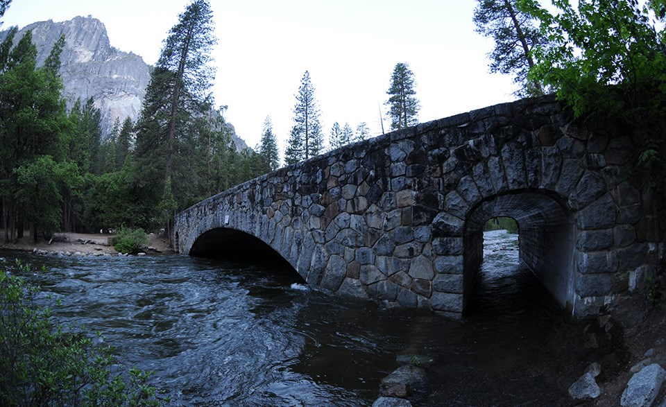 Clarks Bridge during peak spring runoff in 2011.