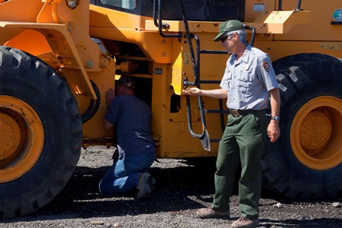 Yosemite inspects heavy equipment for invasive plant seeds before they enter the park.