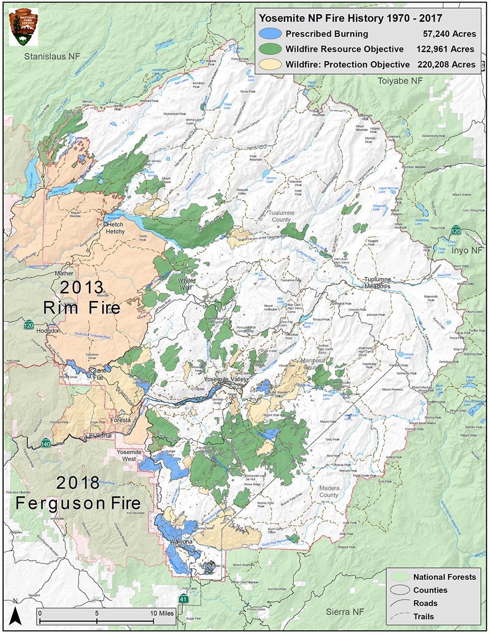 Valley Of Fire Map Pdf.Fire History Yosemite National Park U S National Park Service