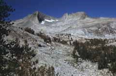Stark Alpine Granite Landscape With Craggy Peaks