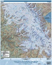 Map showing glacial extent in the Yosemite region during the Tioga Glaciation