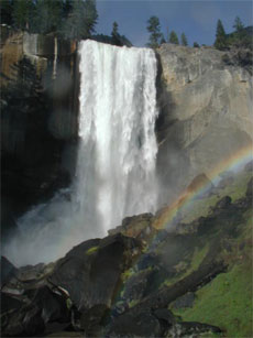 Vernal Fall and rainbow