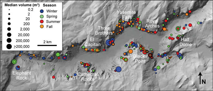 historic rockfall map