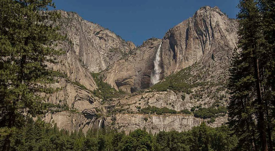 View of Yosemite Falls mid-June 2016.