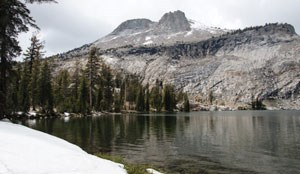 View of Mt. Hoffman from May Lake