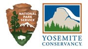 National Park Service and Yosemite Conservancy logos side by side.