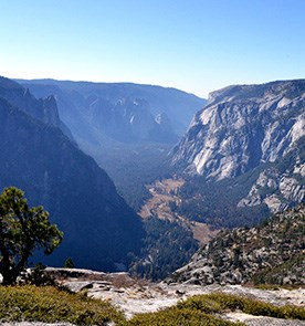 Yosemite Valley lies under North Dome