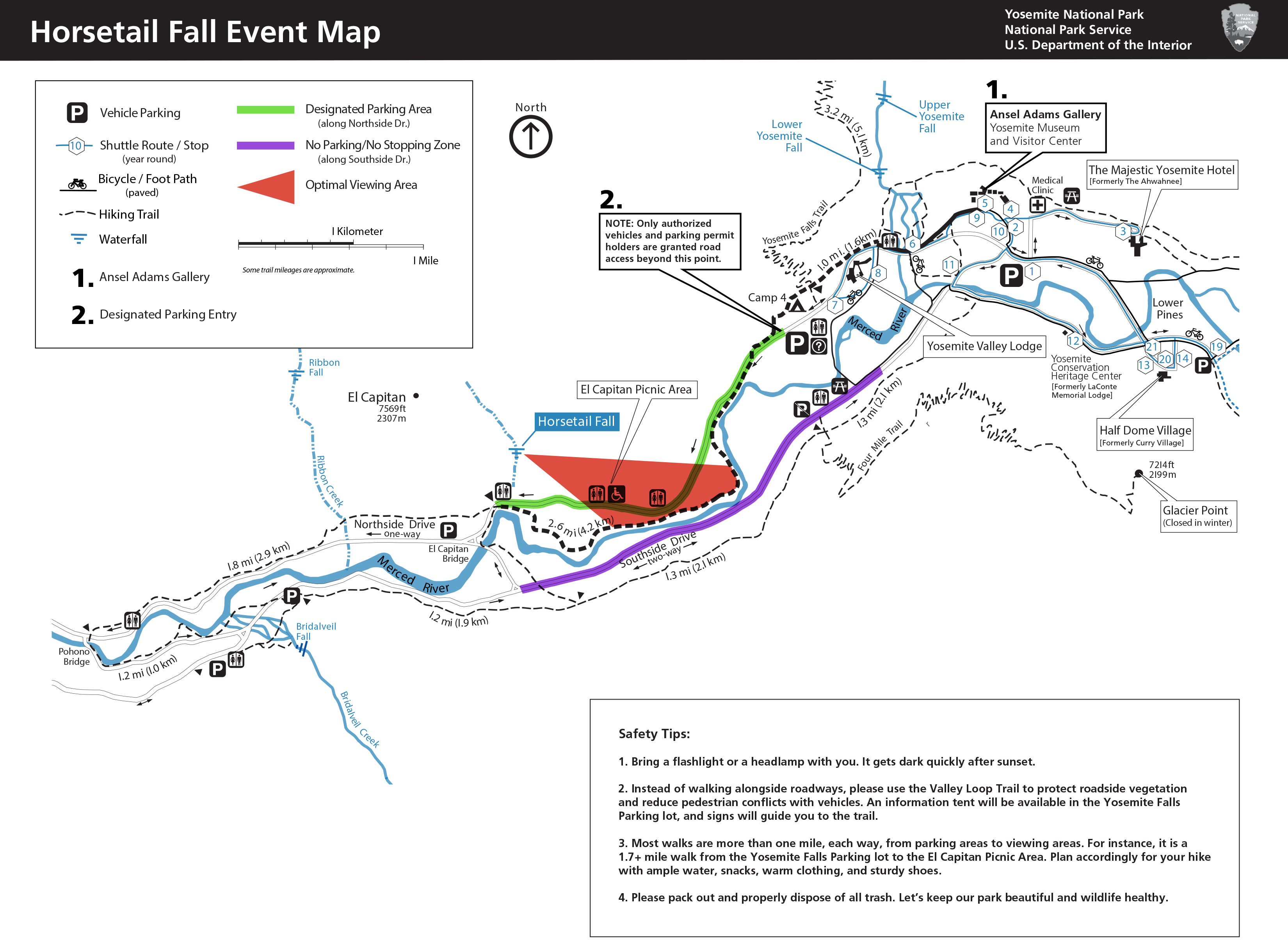 Horsetail Falls Event Map