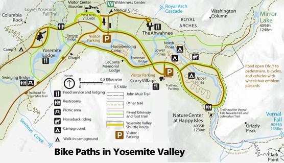 Biking Yosemite National Park US National Park Service - Yosemite national park on us map