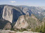 View from Dewey Point includes El Capitan, Cathedral Rocks, and Yosemite Valley