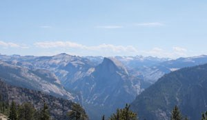 View of Half Dome from the summit of El Capitan