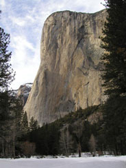 El Capitan rises above the Valley floor