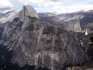 Half Dome, Vernal Fall and Nevada Falls, with the high country in the background