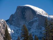 Snow covered Half Dome