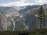 Vernal and Nevada Fall and high country south of Half Dome