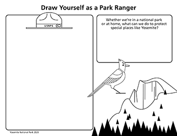 Drawing activity to draw yourself as a ranger