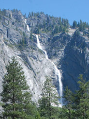 Sentinel Falls from near the Four Mile Trailhead