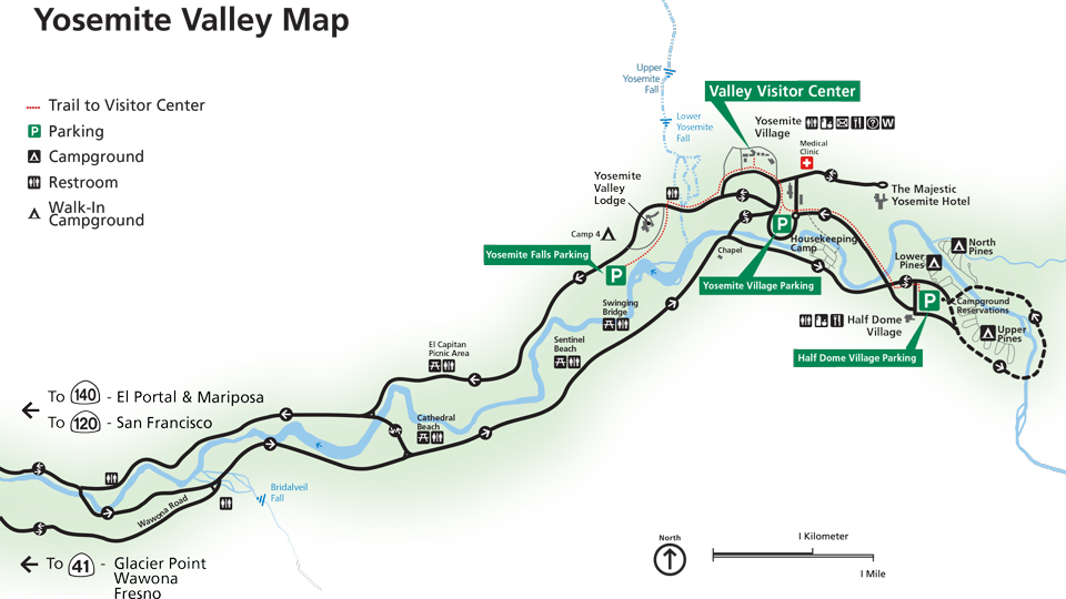 Image result for yosemite valley trail map