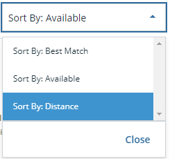 sort by distance