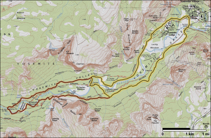 Valley Loop Trail map