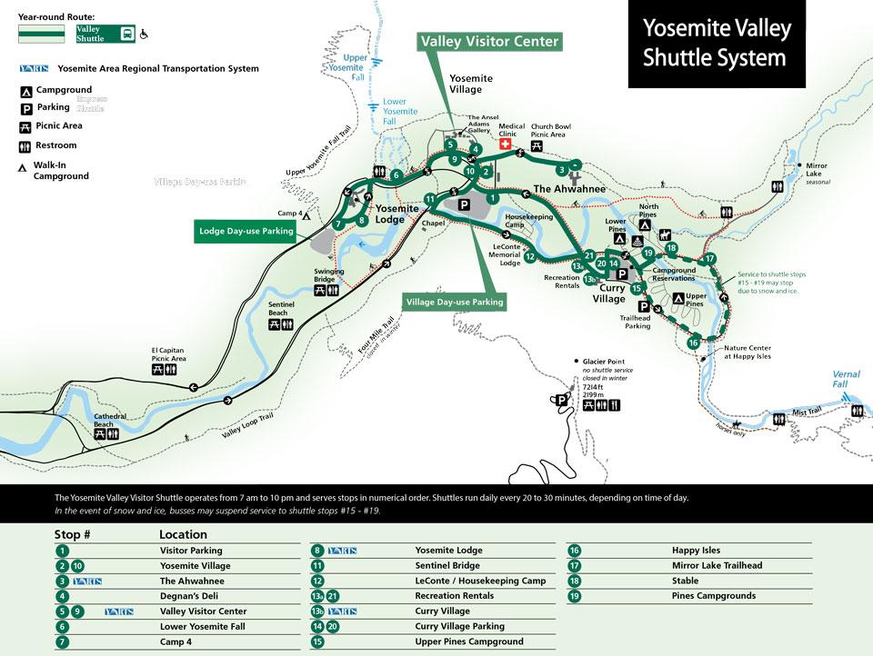 Public Transportation - Yosemite National Park (U.S. National Park ...