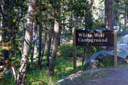 Image of campground sign at White Wolf