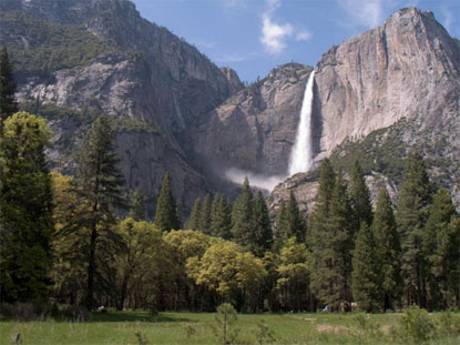 Yosemite Falls and Cook's Meadow