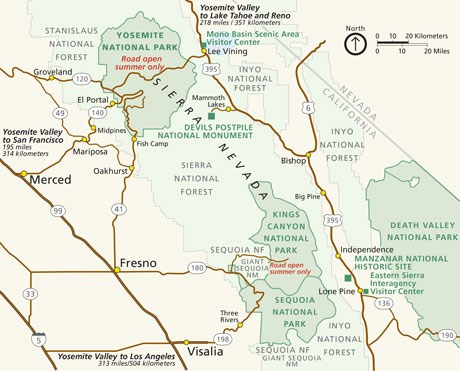 Yosemite Map Of Sights on san diego sights, washington sights, los angeles sights,