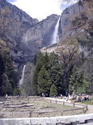 Yosemite Falls; trailhead to Lower Yosemite Fall