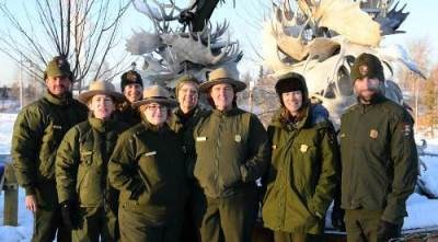 NPS staff in winter