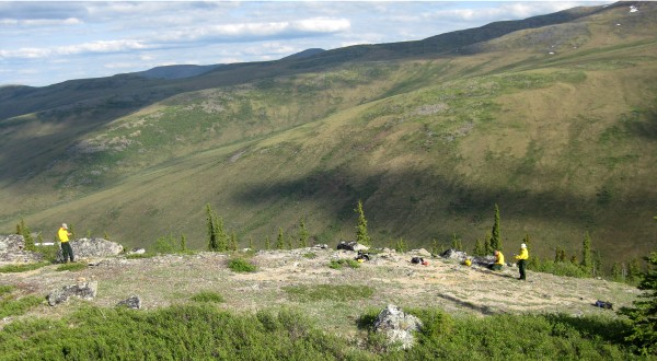 Yukon-Charley Rivers archaeologists at a historic site