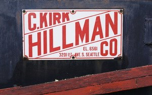 "The Hillman Company label on the ""Prospector"" drill rig."