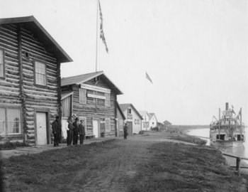 Trading Posts on the Yukon River front at Circle City