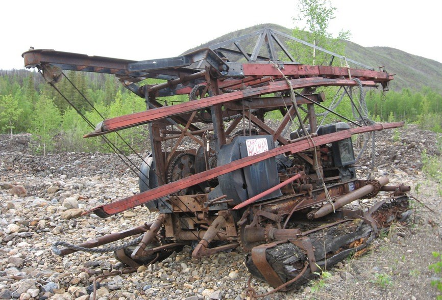 "The Hillman ""Prospector"" drill rig at rest, Coal Creek, 2010."