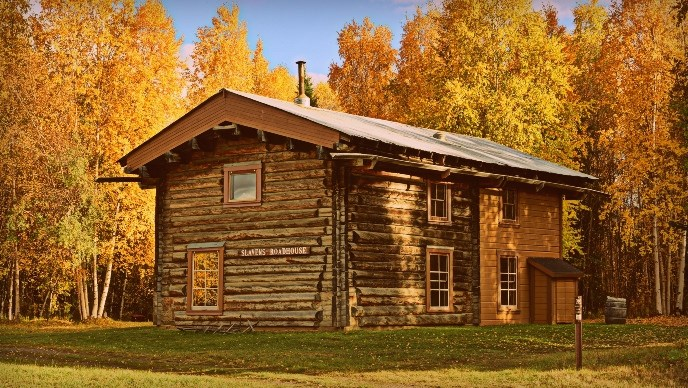 Slaven's Roadhouse in fall colors