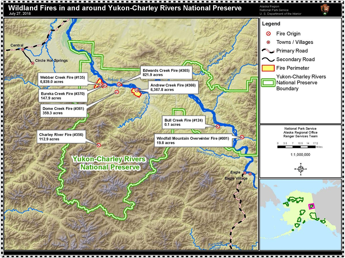 National Fire Map 2018.Current Fire Information Yukon Charley Rivers National Preserve