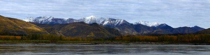 A view of the Ogilvie Mountains from the Yukon River
