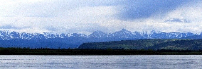 Mountains of the Upper Charley rise above the Yukon River