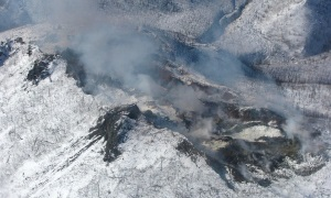 Aerial view of the Windfall Mountain Fire