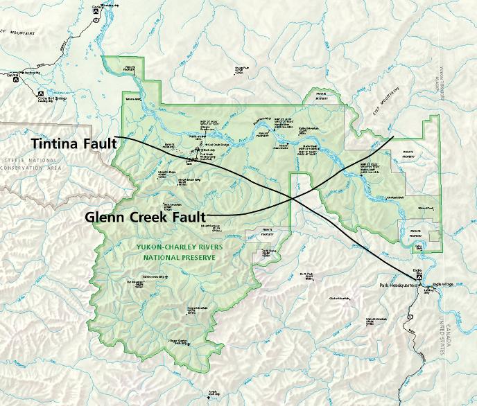 Geology On The Yukon River Yukon Charley Rivers National - Yukon river on us map